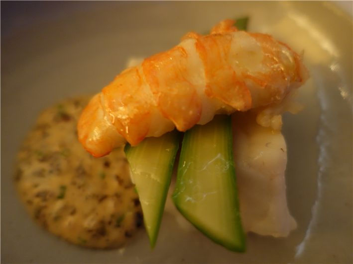 turbot and langoustine